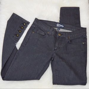 Anlo Ankle Jeans Size 27 Charcoal   Metal Studs